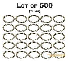 """Lot of 500 Split Key Rings 3/4"""" Keychain Key Holder Locksmith (1.4mm x 20mm) USA"""