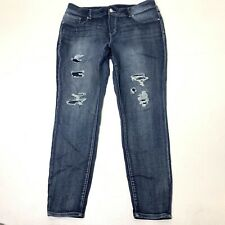 Women's Plus Size 20W Long Maurices Stretch Destructed Skinny Jeans