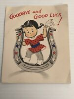 Vintage Norcross Susie Q Greeting Card Goodbye And Good Luck. See Pictures