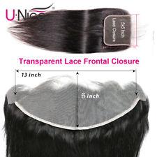 UNice Straight Hair Transparent Lace Frontal Closure Human Hair 13x6 5x5 Closure