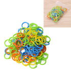 100Pcs Knitting Stitch Markers Crochet Locking Tool Craft Ring Marker Colorful