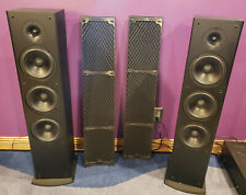 Polk Audio T50 150 Watt Home Theater Floor Standing Tower Speakers, black, qty 2