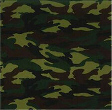 Cotton Poplin Fabric Material - Jungle Camouflage Material - 0437