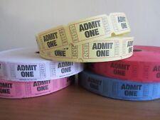 Admit One Tickets Token Wedding Party Scrapbooking Craft Fair Admission 50 / 100