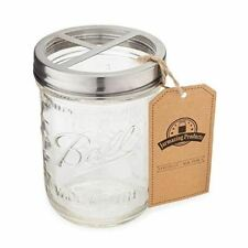 NEW Mason Toothbrush Holder w/ 16 oz Ball Mason Jar Rust-Proof Stainless Steel