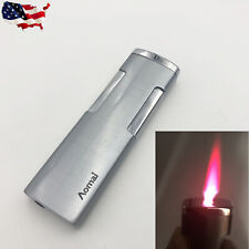 Windproof Hot Pink Jet Flame Butane Gas Cigarette Cigar Lighter Ultra Thin