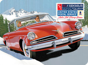 """AMT 1953 Studebaker Starliner USPS """"Auto Art Stamp Series"""" with Collectible Tin"""
