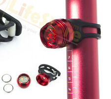 Rear MTB Light Can Clip to Helmet , Bike or Bag Bicycle Mountain Bike Lights Red