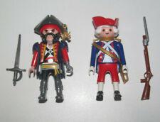 Playmobil Figurine Personnage Lot Pirate Capitaine Crochet + Officier Corsaire