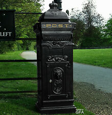 Cast Black Mail Box-Post Box-Letter Box Traditional Victorian Floor Style