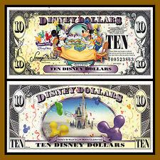"Disney 10 Dollars, 2009 Series ""T"" Mickey Celebrate Uncirculated"