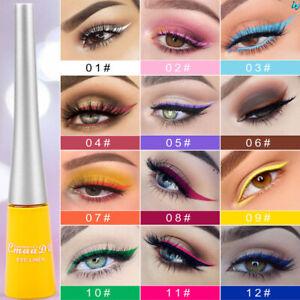 12 Colorful Eyeliner Pencil Neon Green White Matte Liquid Waterproof Makeup 5g