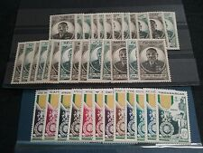 Destock series timbre EBOUE et médaille militaire anc colonies FRANCE N** colon2