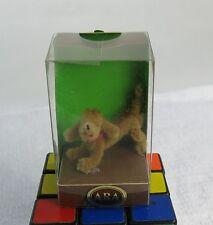 Vintage ARA Austria Hand Made Wool Dachshund Weiner Dog Red Collar Figurine MIB