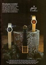 1981 Rolex Benvenuto Cellini Gold Watch Print Advertisement Ad Vintage VTG 80s