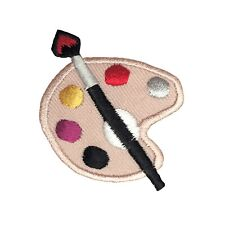 Artist Palette - Paint/Painting/Brush/Art - Iron on Applique/Embroidered Patch