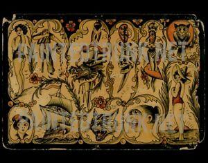 mystery antique vintage 1920s opium nightmare tattoo flash giclee print 11x14