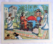 Poster Vintage escuelas-una cena en la antigua Babilonia - 1920s/1930s