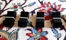 X 4 faders potentiomètre bouton table de mixage NOIR X 4 NEUF/ FIXATION 8 mm