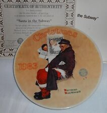 1983 Santa in the Subway 10th Christmas Series Norman Rockwell Collector Plate
