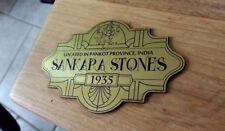 CUSTOM SANKARA STONES DISPLAY PLACARD PROP INDIANA JONES RAIDERS TEMPLE OF DOOM