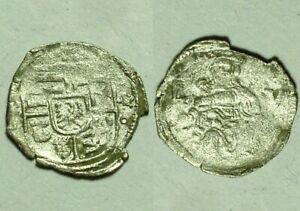 Genuine Europe Silver Denar coi Hungary Mary infant Christ Standard Lion