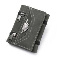 Retro Men's Canvas Tri-fold Wallet Credit Card Holders Purse Money Clips