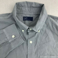 Gap Button Up Shirt Mens Medium Long Sleeve Gray Casual Cotton