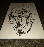 #185  NEW*  SKULL   Airbrush Stencil easy 2 Layer  SCREAMER