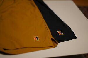 """Nike Court Dry 8"""" Men's Tennis Short Shorts (LOT of 2) - SMALL - Black and Wheat"""