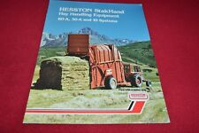 Hesston Stakhand Hay Handling Equipment Dealers Brochure YABE14