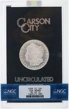 1884 CC Carson City $1 Morgan Silver Dollar NGC MS65 PL Proof Like GSA Hoard