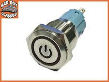 16mm Iluminado Coche Marino Metal Pulsador Encendido/Apagado Interruptor