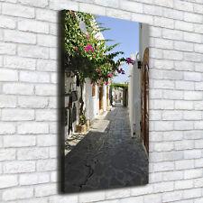 Leinwand-Bild Kunstdruck Hochformat 60x120 Bilder Gasse
