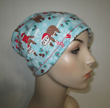 Chemo Sloths Slouchy Beanie Knit Cotton  Sleep  Hospital Hat  Alopecia