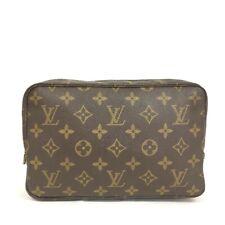 Authentic Louis Vuitton Monogram Trousse Toilette Cosmetic Pouch Purse/40241
