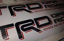 TRD Off Road, toyota tacoma tundra decal Sticker fiber carbono (set)