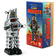 Schylling Planet Robot Chrome Windup Tin Toy Robby the Robot