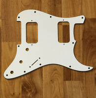 NEW White HH Stratocaster PICKGUARD for Fender Strat Humbucker Pickups