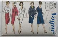 Vintage Vogue Sewing Pattern #6037 Shirt, Skirt, & Jumper Dress Size 16