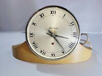 Seth Thomas MCM Dynaire 2E Electric Mantel Clock in Blonde Wood - works great!