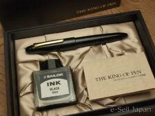 Sailor King of Pen (KOP) BK Ebonite Broad nib 21K & Wooden box 11-7002-620