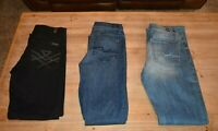 Seven 7 For All Mankind Womens Stretch Blue Gwenevere Skinny Jeans 26 Black x3