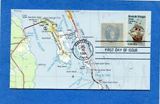 SC #2093 Roanoke Voyages KMC Map Cachet First Day Cover #2