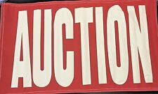 Auction Banner 3 x 5' Sign