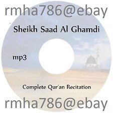 Sheikh Saad Al Ghamdi Full Quran Recitation mp3 CD (no translation) Islam