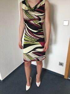 Sehr edles Business Kleid Etuikleid bunt Gr. 32/34