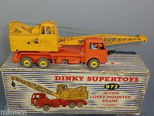 DINKY SUPERTOY MODEL No.972 20-Ton LORRY MOUNTED  'COLES' CRANE VN MIB