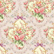 Cottage Shabby Chic Mary Rose Sweet Charms Cotton Fabric Lavender MR2150-14E BTY