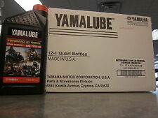 Yamalube Oil 1 Case 12 Quarts 10W-40 Grizzly 300 350 450 550 700 YFZ Raptor 250